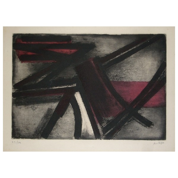 Pierre  Soulages Item 27955 Buy original art online